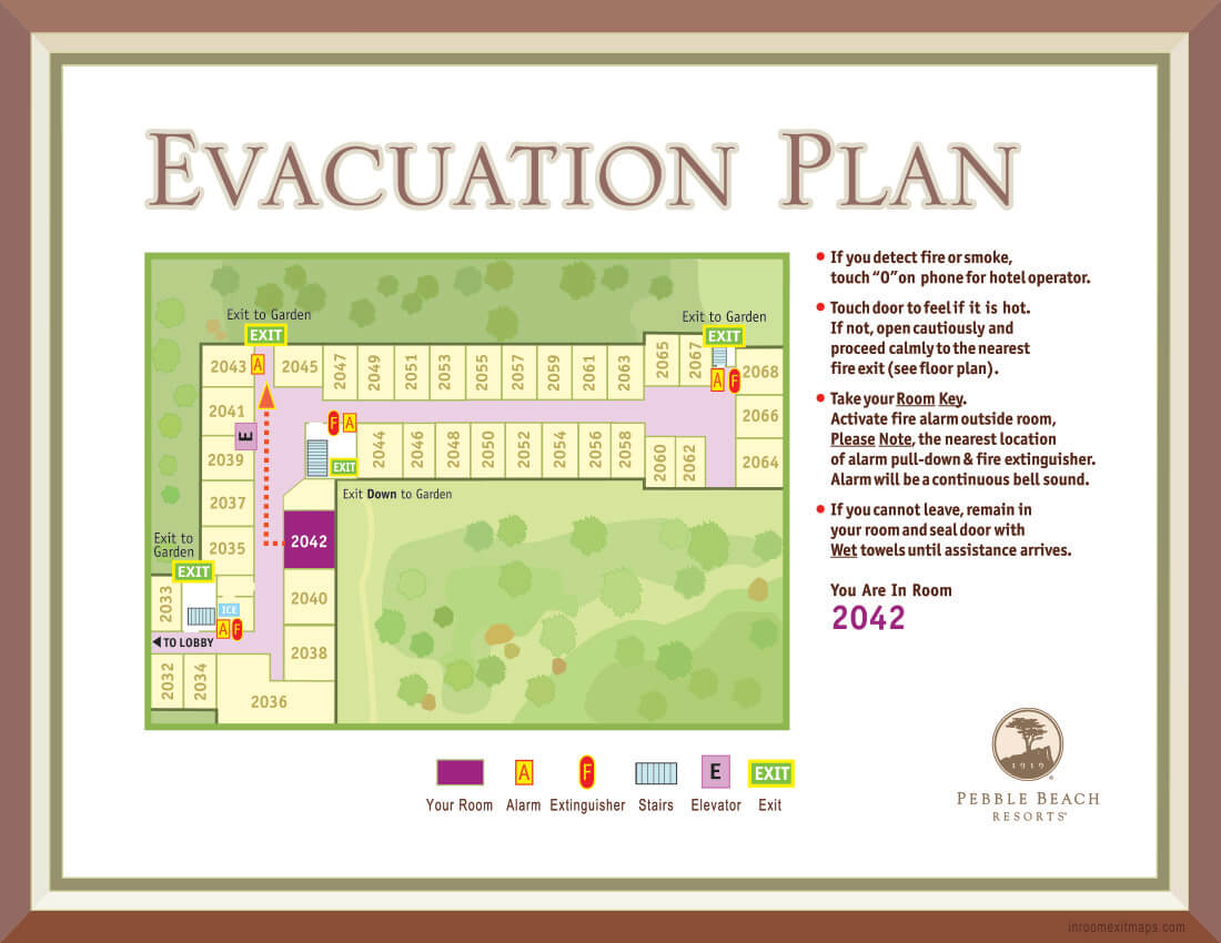 8_Pebble_Beach_2042_Evacuation_Plan_California_Hotel_Fire_Safety_Map